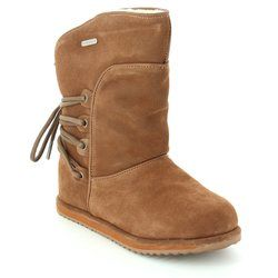 EMU Australia Girls Boots                   - Tan suede - K11309/10 ISLAY KIDS