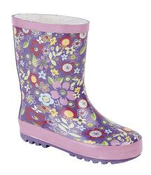 Exclusive to Begg Shoes Wellingtons                   - Purple multi - W0206/90 FLOWER  W206M