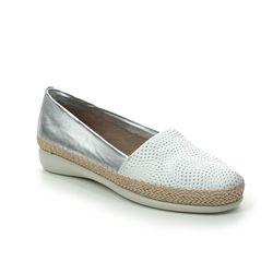 Flex and Go Comfort Slip On Shoes - White-silver - ST076401 AERO