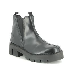 Fly London Chelsea Boots - Black leather - P211008 BACO