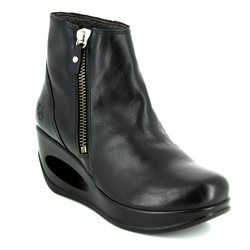 Fly London Wedge Boots - Black - P143795 HULK 795