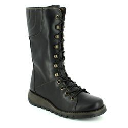 Fly London Boots - Long - Black - P143768 STER 768