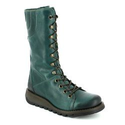 Fly London Knee High Boots - Petrol blue - P143768 STER 768
