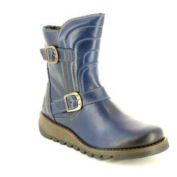 Fly London Boots - Short - Blue - P143731 SVEN 731