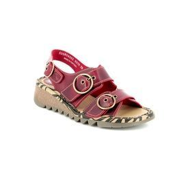 Fly London Sandals - Dark Red - P500806 TEAR 806