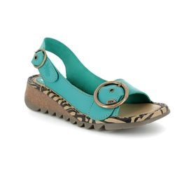 Fly London Sandals - Turquoise - P500723 TRAM 723