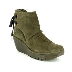 Fly London Boots - Ankle - Brown suede or snake - P500326 YAMA