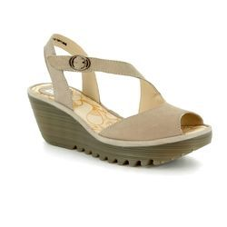Fly London Wedge Sandals - Off-white - P500836 YAMP 836