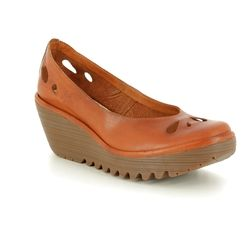 Fly London Wedge Shoes  - Tan - P500832 YERN 832