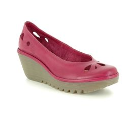 Fly London Wedge Shoes  - Dark Red - P500832 YERN 832
