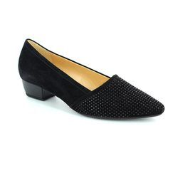 Gabor Court Shoes - Black suede - 45.134.17 AZALEA