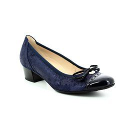 Gabor Court Shoes - Navy patent multi - 82.203.36 ISLAY