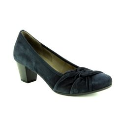 Gabor Court Shoes - Navy Suede - 95.484.16 JANA