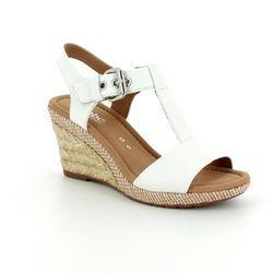Gabor Wedge Sandals - White - 82.824.50 KAREN