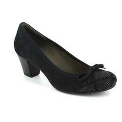 Gabor Court Shoes - Navy nubuck - 75.483.16 KAY
