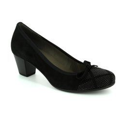 Gabor Court Shoes - Black nubuck - 75.483.17 KAY