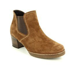 Gabor Boots - Ankle - Tan suede - 76.661.34 LILIA