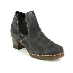 Gabor Boots - Ankle - Grey suede - 76.661.39 LILIA