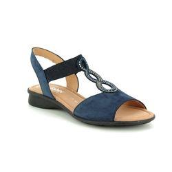 Gabor Comfortable Sandals - Navy Nubuck - 26.065.36 MERLIN