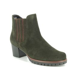 Gabor Boots - Ankle - Green Suede - 36.654.34 MERMAID