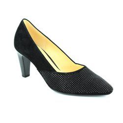 Gabor Heeled Shoes - Black suede - 65.150.17 REFRESHING