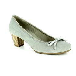 Gabor Court Shoes - LIGHT GREY SUEDE - 85.483.19 STAINBY