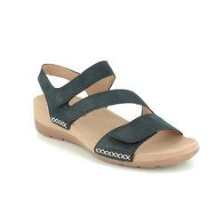 Gabor Comfortable Sandals - Navy nubuck - 43.734.16 TOBIN