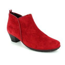 Gabor Boots - Ankle - Red suede - 75.633.30 TRUDY