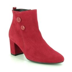 Gabor Ankle Boots - Red suede - 35.802.15 VENUE