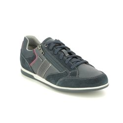 Geox Casual Shoes - Navy leather - U024GA/C4002 RENAN