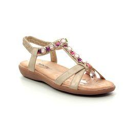 Heavenly Feet Flat Sandals - Gold - 9130/26 AMBER