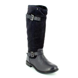 Heavenly Feet Knee High Boots - Navy - 6009/70 CHASER