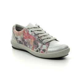 Heavenly Feet Comfort Lacing Shoes - Floral print - 9108/57 CINNAMON
