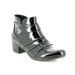 Heavenly Feet Ankle Boots - Black patent - 7205/40 CLAIRE