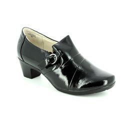 Heavenly Feet Heeled Shoes - Black patent - 7219/40 COLORADO 4
