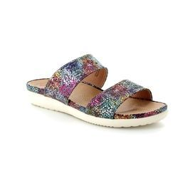 Heavenly Feet Sandals - Navy multi - 8103/70 DAHLIA