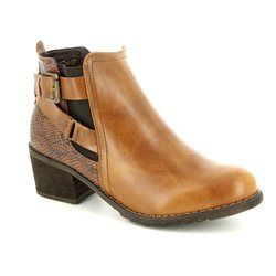 Heavenly Feet Boots - Short - Tan - 7207/10 DARCY 2