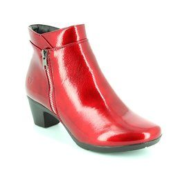 Heavenly Feet Boots - Short - Red patent - 6002/80 DRAPE