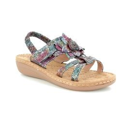 Heavenly Feet Sandals - Navy multi - 8104/70 DRIFTER 2