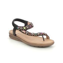 Heavenly Feet Flat Sandals - Black - 2021/ GISELA
