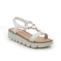 Heavenly Feet Wedge Sandals - White - 2022/80 LEONA