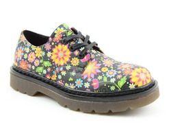 Heavenly Feet Brogues - Black floral - 2029/30 LIBERTY