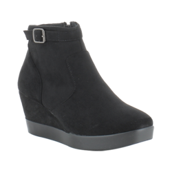 Heavenly Feet Wedge Boots - Black suede - 7210/30 MAYO