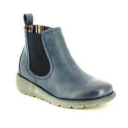 Heavenly Feet Chelsea Boots - Navy - 7213/70 ROLO