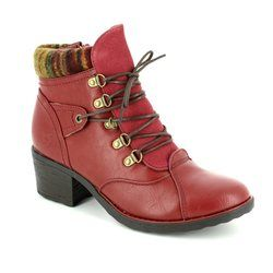 Heavenly Feet Boots - Ankle - Red - 7214/80 SCAVA
