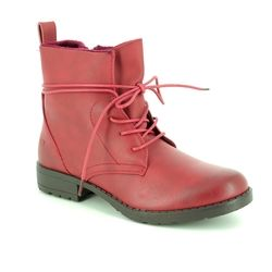 Heavenly Feet Boots - Ankle - Red - 8513/81 STRUT 2