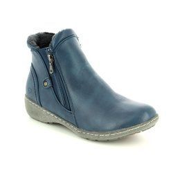 Heavenly Feet Boots - Ankle - Navy - 7216/70 VENICE
