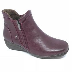 Heavenly Feet Boots - Ankle - Wine - 8515/81 VENICE