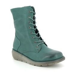 Heavenly Feet Boots - Ankle - Teal blue - 9521/73 WALKER MARTINA