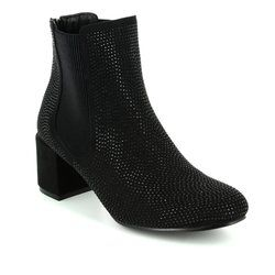 Heavenly Feet Boots - Ankle - Black gold - 7218/30 WAVE
